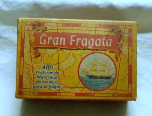 m30 caja vintage fosforos gran fragata de colección carabela