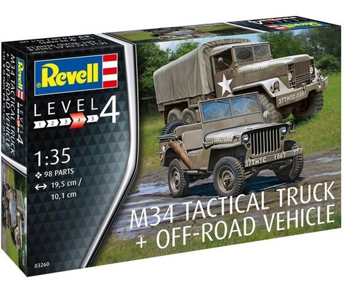 m34 tactical truck + off-road vehicle - 1/35 revell 03260