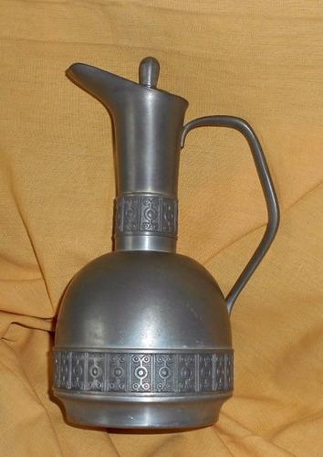 m46 antigua jarra peltre con tapa sellada norway hausrud