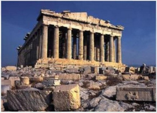 m50-003 acropolis grecia 500 piezas rompecabezas mini tomax
