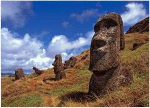 m50-009 anakena moai 500 piezas rompecabezas mini tomax