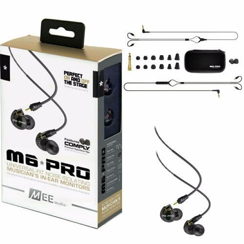 m6pro fone ponto monitor retorno de ouvido mee audio preto