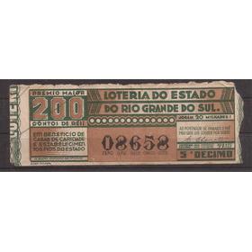 M707-bilhete De Loteria Rio Grande Do Sul 1942