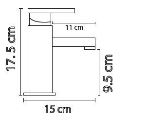 maa mezcladora monomando para lavabo cromo