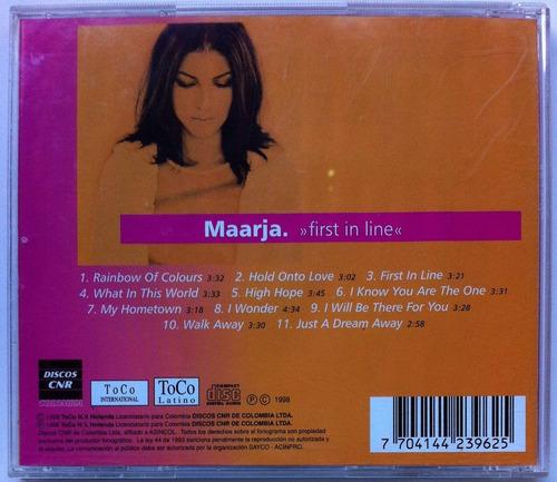maarja. first in line. cd original, buen estado