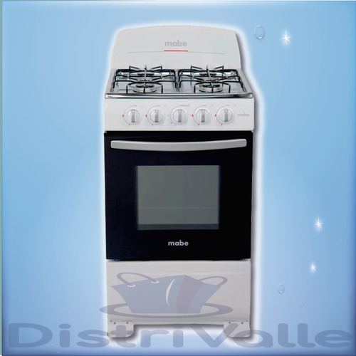 mabe cocina 4q a gas 51cm blanca em5100eb0