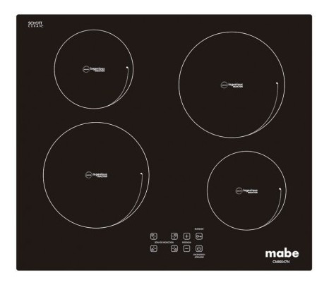 mabe cubierta mabe 60 cmi6047n0c 4pmfe negro mabe cubi silkt