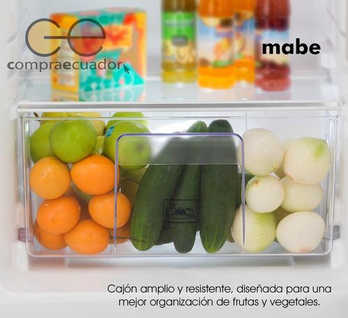 mabe refrigeradora 12 pies inox 250 litros dispensador agua