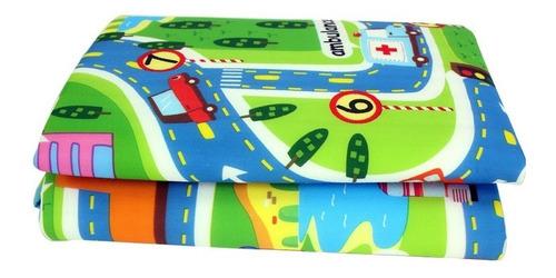 maboshi ciudad carretera 2 x 1.6mts tapete para bebes niños
