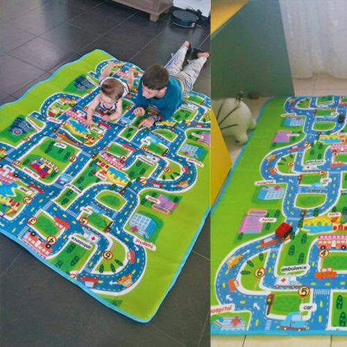 maboshi ciudad carretera alfombra tapete para peques