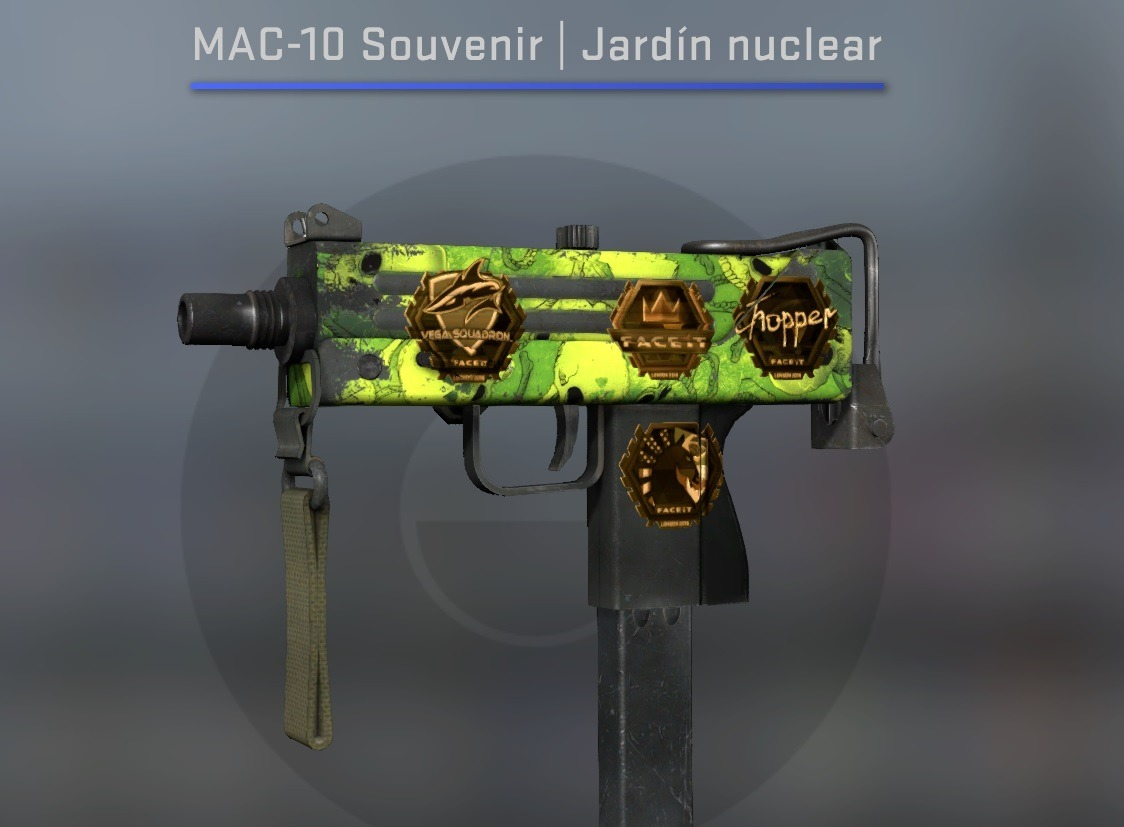 Mac - 10 Souvenir | Nuclear Garden | Ft | Csgo Skins - $ 115,00