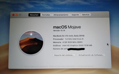 mac book air 13 2014 con detalle estético