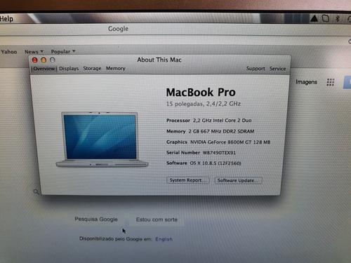 mac book pro 15  early 2008