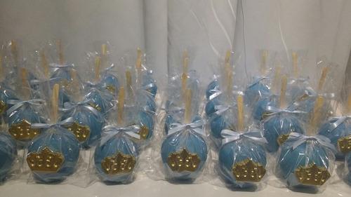 maçã do amor chocolate com coroa - 10 unidades