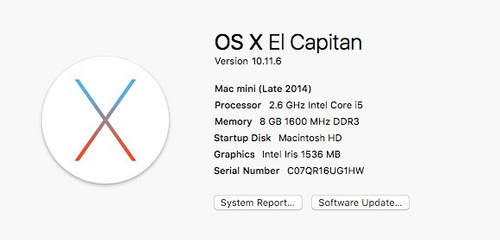 mac mini 2014 8 gb ram 1 tb en excelentes condiciones