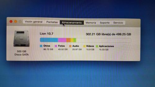 mac mini intel core i5 500 gbs hdd y 4 gb de ram