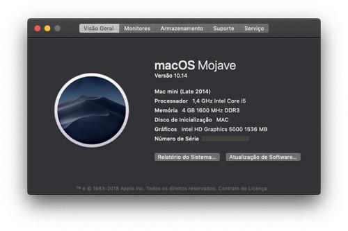 mac mini late 2014 i5 1.4 ghz 4gb ram ssd 240gb