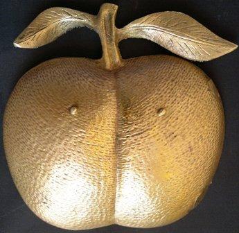 maçã p petiscos -bronze