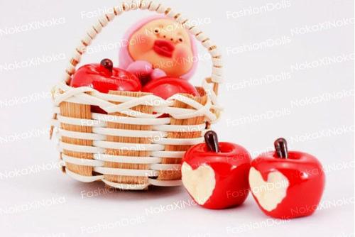 maçã para boneca barbie * blythe pullip * miniatura re-ment