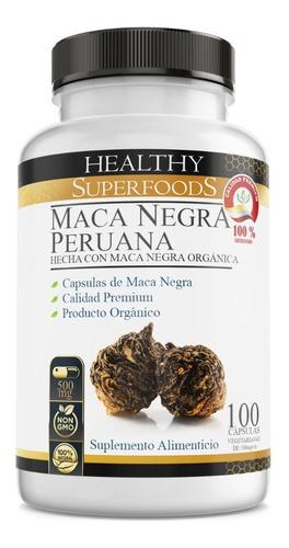maca negra pura orgánica 100 capsulas 500mg envio incluido