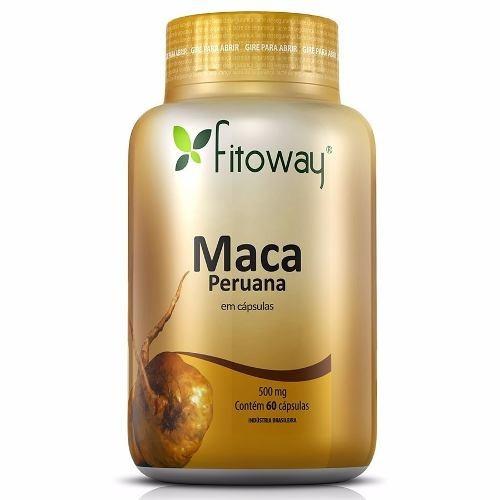 maca peruana 100% pura - fitoway - 60 cápsulas original