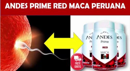 maca peruana andes prime red para engravidar rápido 4 frasco