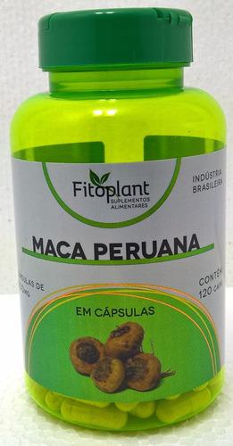 maca peruana fitoplant 500mg  120 cápsulas caixa 6 potes  premiun