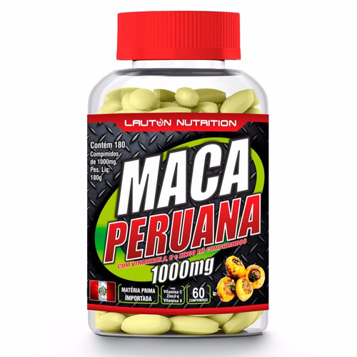 maca peruana lauton - 60 comprimidos -1000mg +brinde
