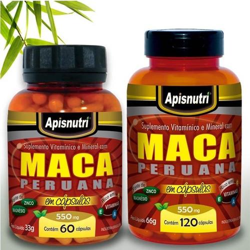 maca peruana vermelha dos andes 120 capsulas 550 mg