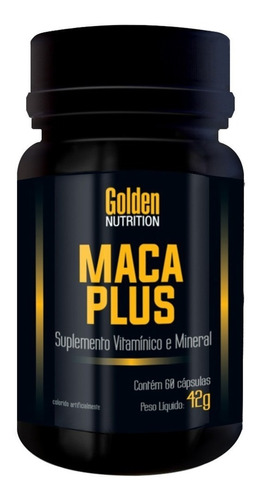 maca plus 60 cápsulas -  maca peruana - golden nutrition