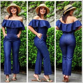 f56d08db5 Macacão Jeans Ciganinha Pantalona - Super Lançamento. R  90 99
