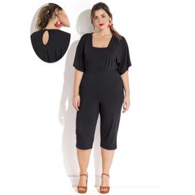 7f0f61c1a Sobretudo Acinturado Feminino Plus Size - Macacão no Mercado Livre ...