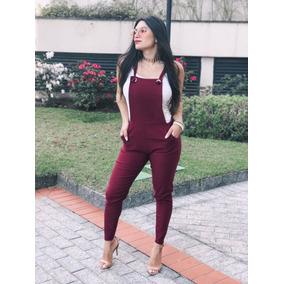 b5bd39ef2 Jardineira Longa Feminina Macaquinho Ribana
