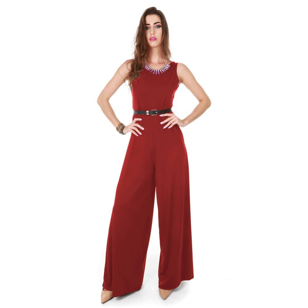 859d675ccea3 Macacao Chique Com Renda Calca Pantalona Comprido Frete Grat - R ...