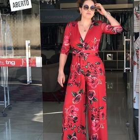 c62197144227 Macacão Decote Elegante Vermelho no Mercado Livre Brasil