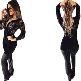 68a4530a7 Macacao Tule Renda - Macacão para Feminino no Mercado Livre Brasil