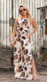 fe63221b6 Macacao Feminino Frente Unica Pantalona - Calçados, Roupas e Bolsas no  Mercado Livre Brasil