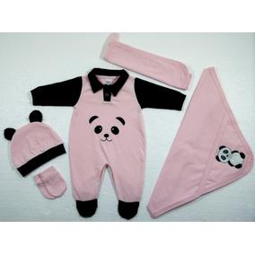 6c5ccce41 Kit Saída Maternidade Orelhinha Urso Panda - 5 Peças Rosa