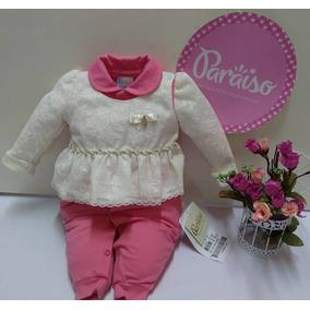 5588d8d69eccc Macacao Paraiso Menina Rosa - Roupas de Bebê no Mercado Livre Brasil