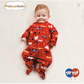 Macacão Pijama Carros Bebê Vermelho