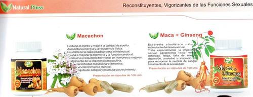 macachon natural plus cap x 100