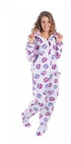 8f3e48ed1ec0df Macacão Adulto Infantil Quentinho Pijama Longo Inverno
