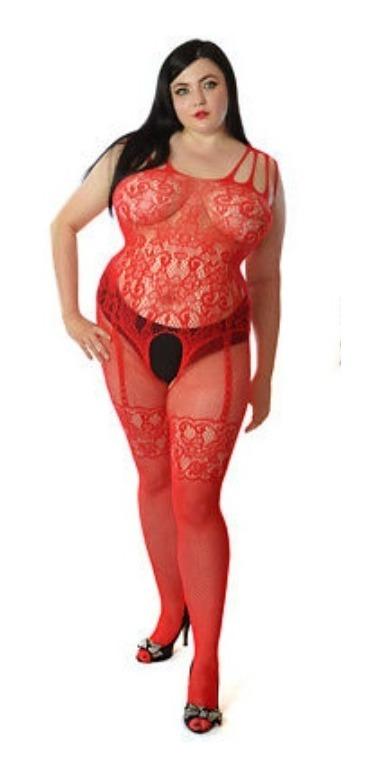 ca651020293 Macacão Arrastão Bodysticking Lingerie Sexy Plus Size Cod507 - R$ 50 ...