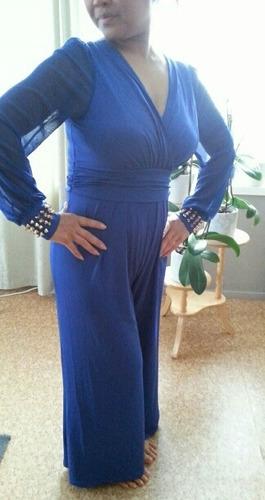 macacão azul feminino mulher estilo sexy balada festa evento