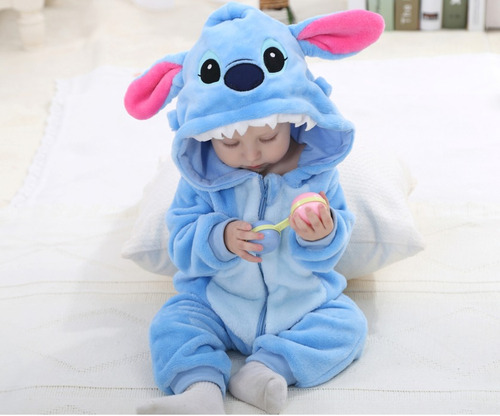 macacão bebê bichinho fantasia stitch panda batman kigurumi