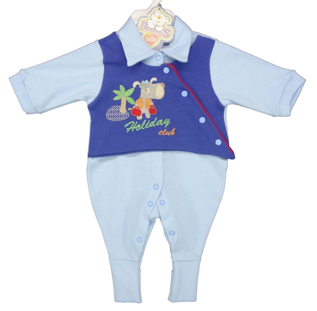 7f0ef6f8f4 macacão bebê menino pé reversível suedine longo bloomys. Carregando zoom.