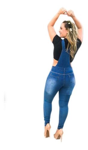macacão calça jardineira jeans lycra summer 2019