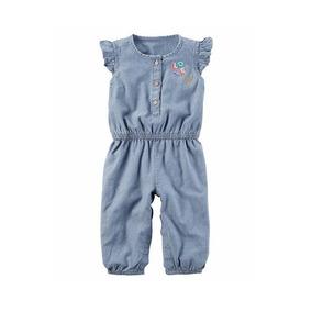 d34eed8d11490b Macacão Carters Baby Jeans Love Sem Mangas Infantil 6m