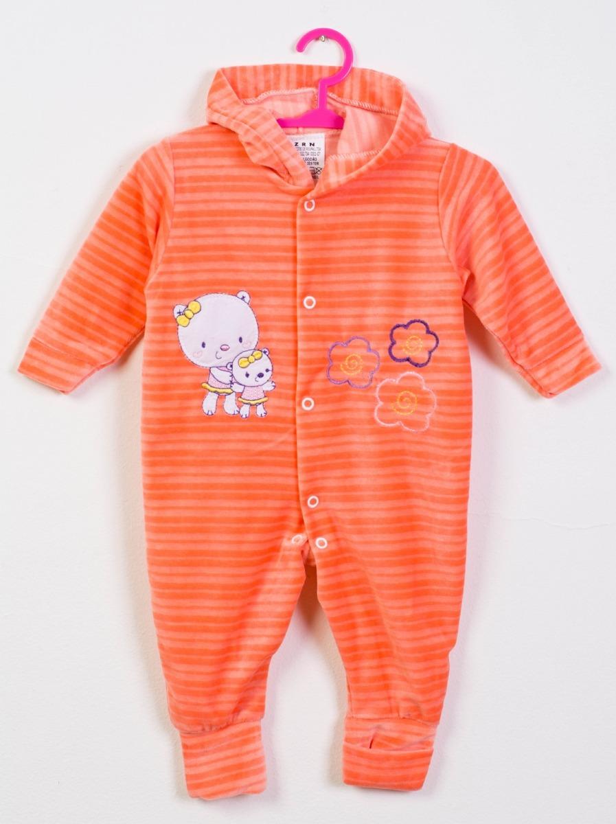 5e004ad3e7 macacão com capuz para bebê menina laranja. Carregando zoom.
