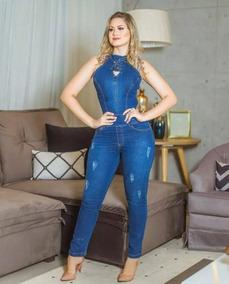 640e9361b Macacão Jeans Frente Única - Macacão para Feminino no Mercado Livre ...